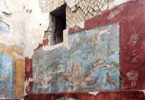 Pompei, le pitture nelle Terme Suburbane. Normalmente chiuse, aprono il 17 Maggio per La Notte dei Musei (ANSA)