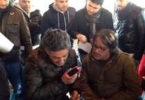 Fiorello e Marco Baldini nella prima puntata di 'Fuori programma' per Radio1 (ANSA)