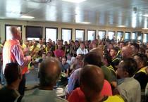 Alitalia, sos da assemblea lavoratori Fiumicino (ANSA)