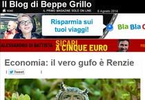Pil: blog Grillo, 'il vero gufo Renzie' (ANSA)