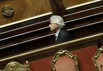 Corradino Mineo in Senato in una foto d'archivio (ANSA)