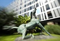 Il cavallo di Viale Mazzini (ANSA)