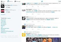 Una pagine twitter con gli hashtag su Giletti e Napoli (ANSA)