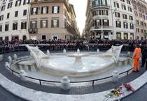 La Fontana della Barcaccia (ANSA)