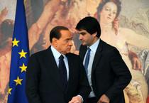 Raffaele Fitto e Silvio Berlusconi in una immagine d'archivio (ANSA)