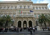 Veduta esterna della sede della Banca d'Italia (ANSA)