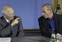 Wolfgang Schaeuble e Yanis Varoufakis (ANSA)