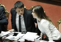 Maria Elena Boschi e Matteo Renzi (ANSA)