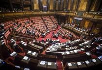 L'Aula del Senato durante la discussione del disegno di legge sull'anticorruzione (ANSA)