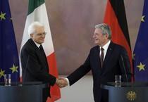 Mattarella incontra il presidente tedesco Joachim Gauck (ANSA)