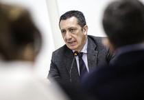 Il presidente dell'ANM, Rodolfo Sabelli, durante la riunione del Comitato Direttivo Centrale dell'Associazione Nazionale Magistrati. Roma 22 marzo 2015 (ANSA)