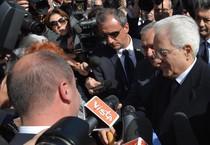 Il presidente della Repubblica Sergio Mattarella alla cerimonia (ANSA)