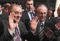 Il presidente di Confindustria e il ministro dell'Economia (ANSA)