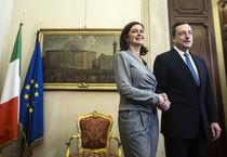 Mario Draghi e Laura Boldrini (ANSA)