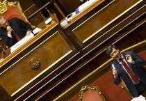 Il ministro della Giustizia, Andrea Orlando, durante la sua replica, in Aula al Senato (ANSA)