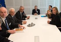 Il presidente della Repubblica a Bruxelles (ANSA)