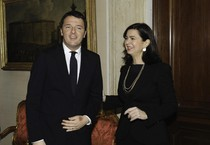 Renzi e Boldrini (ANSA)