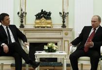 Matteo Renzi e Vladimir Putin (ANSA)