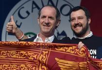 Una recente immagine di Luca Zaia e Matteo Salvini (ANSA)