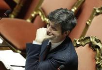 Il ministro della Giustizia Andrea Orlando durante la seduta al Senato sul ddl anticorruzione (ANSA)