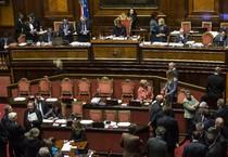 Un momento del voto di fiducia al Senato (ANSA)