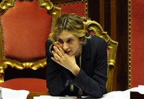 l Ministro Marianna Madia, in aula del Senato per la riforma della pubblica amministrazione (ANSA)