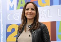 Camila Raznovich, durante la conferenza stampa sulla 25ma edizione del ''Concerto del Primo Maggio'' di Cgil, Cisl e Uil in Piazza San Giovanni in Laterano, Roma (ANSA)