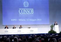 Il presidente della Consob Giuseppe Vegas ad Expo 2015 per la relazione annuale (ANSA)