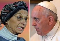 Emma Bonino e Papa Francesco (ANSA)