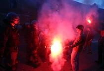 Lega: uova e vernice contro Salvini a Segrate (ANSA)