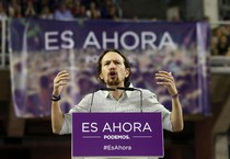 Pablo Iglesias, leader di Podemos (ANSA)