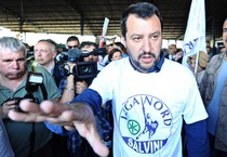 Matteo Salvini ieri a Firenze (ANSA)