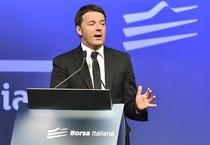 Renzi alla Borsa di Milano il 4 maggio scorso (ANSA)