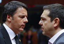 Matteo Renzi e Alexis Tsipras (ANSA)