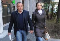 Kharima el Mahroug (nota come Ruby Rubacuori) e il compagno Luca Risso (ANSA)
