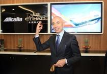 Silvano Cassano inaugura il padiglione Alitalia-Etihad a Expo  (archivio) (ANSA)