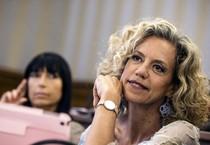 Monica Cirinnà durante la riunione della commissione Giustizia del Senato (ANSA)