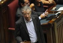 Umberto Bossi in Aula a Montecitorio (ANSA)