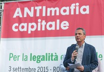 Sit-in antimafia a Roma (ANSA)