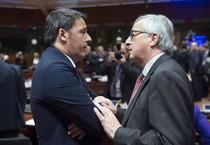 Il premier Renzi col presidente della Commissione Juncker (ANSA)