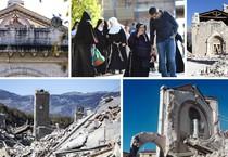 Una combo di immagini dei danni del terremoto (ANSA)