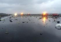 ++ Aereo da Dubai si schianta in Russia, 55 morti ++ (ANSA)