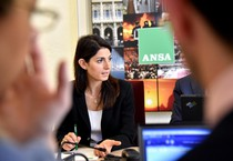 Virginia Raggi all'Ansa (ANSA)