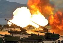 Dimostrazioni di mezzi pesanti della Corea del Nord (ANSA)