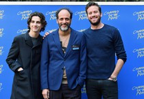 Luca Guadagnino, Timothee Chalamet e Armie Hammer (ANSA)