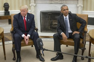 US President Barack Obama welcomes President-elect Donald Trump (ANSA)