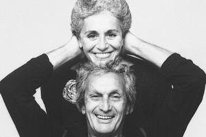 Ottavio and Rosita Missoni, 1984. Photograph by Giuseppe Pino (ANSA)