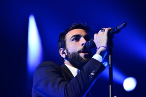 Italian singer Marco Mengoni performs on stage during his concert in Rome, Italy, 25 November 2016. (ANSA)