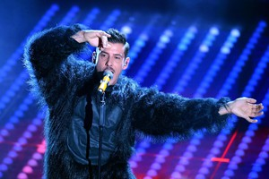 Italian singer Francesco Gabbani performs on stage during the 67th Festival of the Italian Song of Sanremo at the Ariston theater in Sanremo, Italy, 10 February 2017. The 67th editi (ANSA)