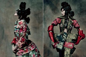 Rei Kawakubo Exhibition Rei Kawakubo (Japanese, born 1942) for Comme des Garons (Japanese, founded 1969). 18th-Century Punk, autumn/winter 2016?17; Courtesy of Comme des Garons. Photograph by Paolo Roversi (ANSA)
